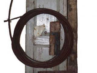 Door with Coiled Wire